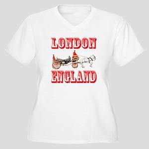 London, England Women's Plus Size V-Neck T-Shirt