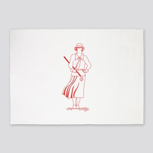 Female Golfer 5'x7'Area Rug