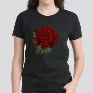 Vintage Red Rose Women's Dark T-Shirt