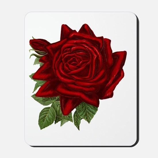 Vintage Red Rose Mousepad