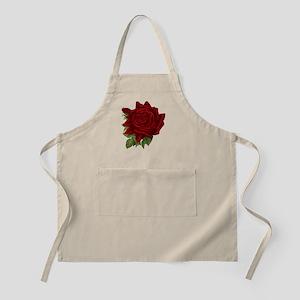 Vintage Red Rose Apron