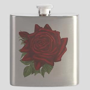Vintage Red Rose Flask