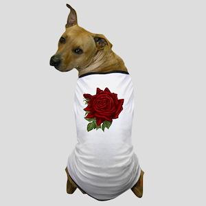Vintage Red Rose Dog T-Shirt