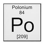 84. Polonium Tile Coaster