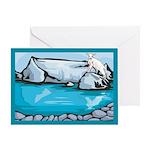 Goat-Glacier Greeting Card