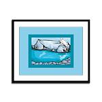 Goat-Glacier Framed Panel Print