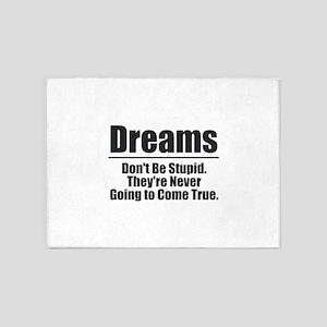Dreams - Black 5'x7'Area Rug
