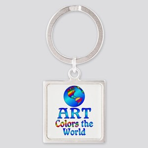 Art Colors the World Square Keychain