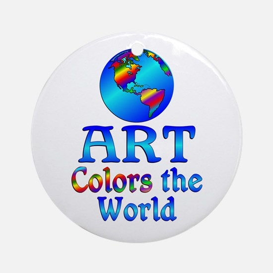 Art Colors the World Ornament (Round)