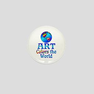 Art Colors the World Mini Button