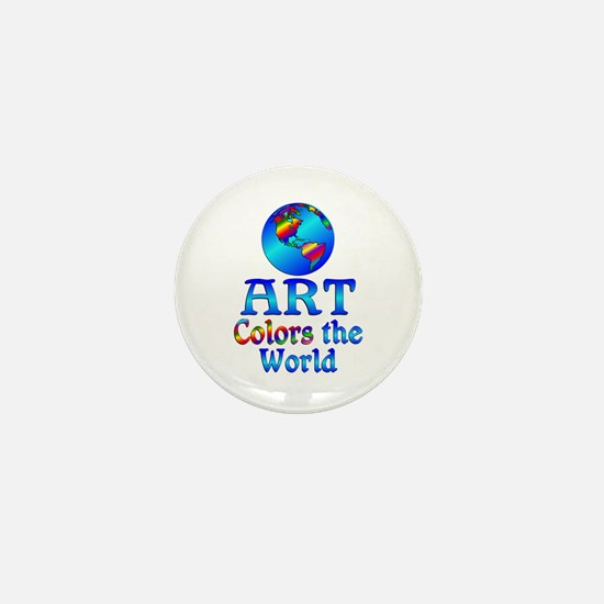 Art Colors the World Mini Button