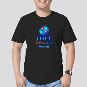 Art Colors the World Men's Fitted T-Shirt (dark)