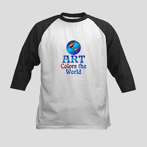 Art Colors the World Kids Baseball Jersey