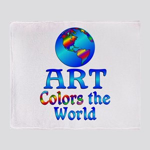Art Colors the World Throw Blanket