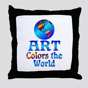 Art Colors the World Throw Pillow