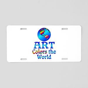 Art Colors the World Aluminum License Plate