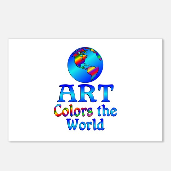 Art Colors the World Postcards (Package of 8)
