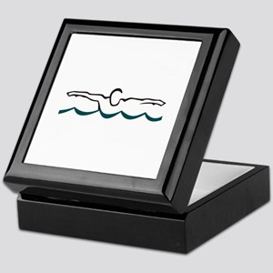 Butterfly Swimmer Keepsake Box