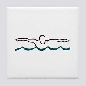 Butterfly Swimmer Tile Coaster