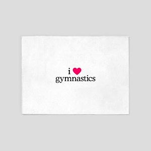 I Love Gymnastics 5'x7'Area Rug