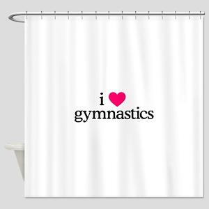 I Love Gymnastics Shower Curtain