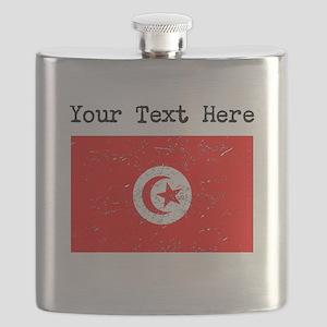 Tunisia Flag (Distressed) Flask