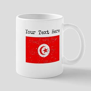 Tunisia Flag (Distressed) Mugs