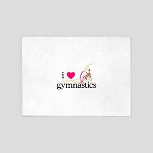 I Love Gymnastics/Female 5'x7'Area Rug