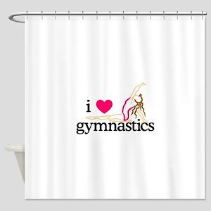 I Love Gymnastics/Female Shower Curtain