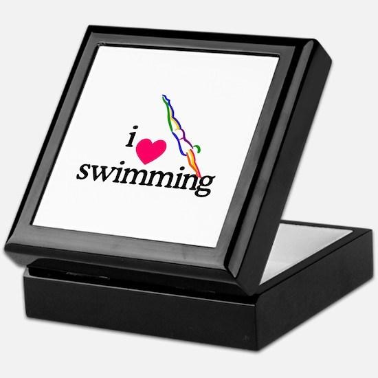 I Love Swimming/Diver Keepsake Box