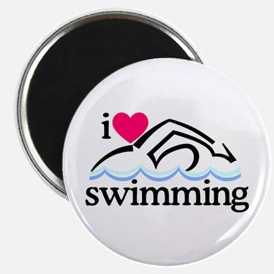 I Love Swimming/Swimmer Magnets