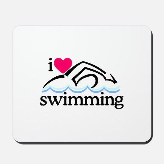 I Love Swimming/Swimmer Mousepad