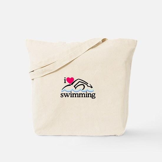I Love Swimming/Swimmer Tote Bag