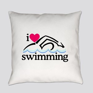 I Love Swimming/Swimmer Everyday Pillow