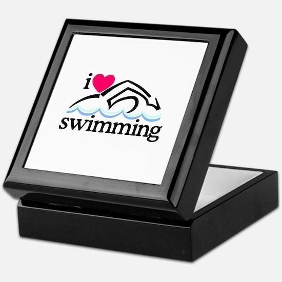I Love Swimming/Swimmer Keepsake Box