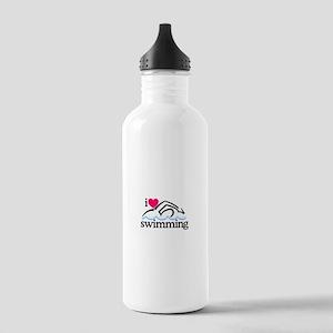 I Love Swimming/Swimmer Water Bottle