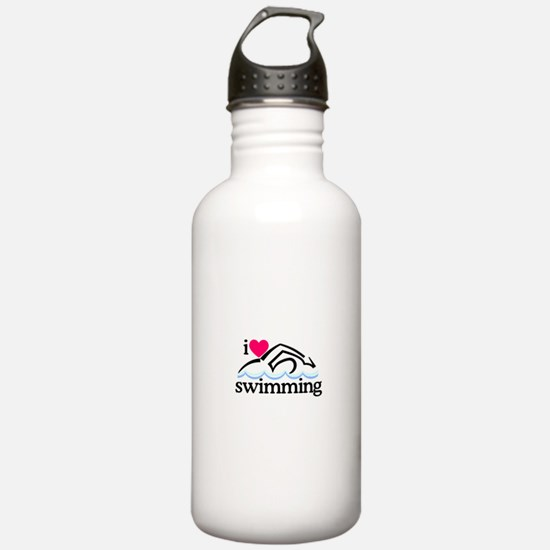 I Love Swimming/Swimmer Water Bottle
