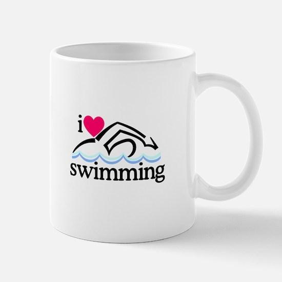 I Love Swimming/Swimmer Mugs