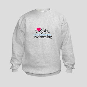 I Love Swimming/Swimmer Sweatshirt