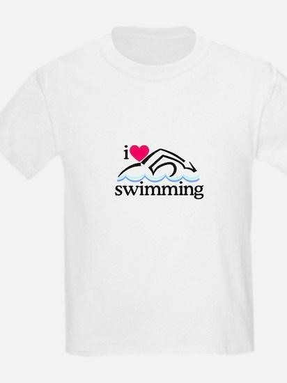 I Love Swimming/Swimmer T-Shirt