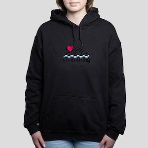 I Love Swimming/Swimmer Women's Hooded Sweatshirt