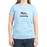 Swimming Women's Light T-Shirt