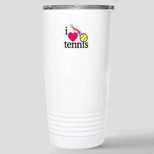 I Love Tennis/Ball Travel Mug