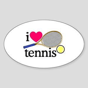 I Love Tennis/Racquet Sticker