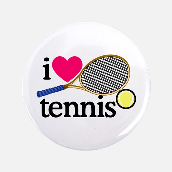 I Love Tennis/Racquet Button