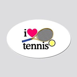 I Love Tennis/Racquet Wall Decal