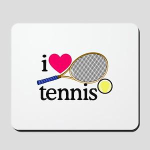 I Love Tennis/Racquet Mousepad