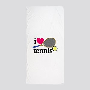 I Love Tennis/Racquet Beach Towel