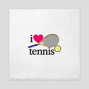 I Love Tennis/Racquet Queen Duvet