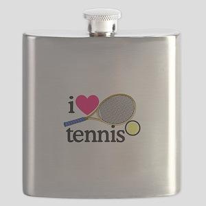 I Love Tennis/Racquet Flask